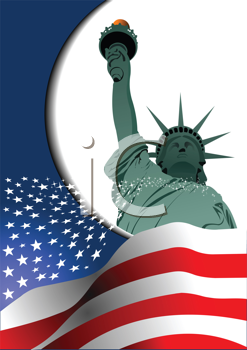 4th July � Independence day of United States of America. Poster for  graphic designers