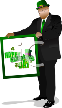 Illustration of St. Patrick's Day. Leprechaun. Vector