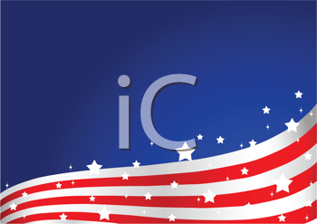 Royalty Free Clipart Image of an American Flag Background