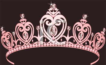 Royalty Free Clipart Image of a Princess Crown