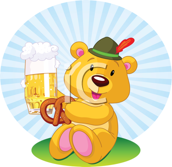Royalty Free Clipart Image of an Oktoberfest Bear