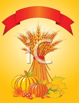 Royalty Free Clipart Image of Autumn Harvest