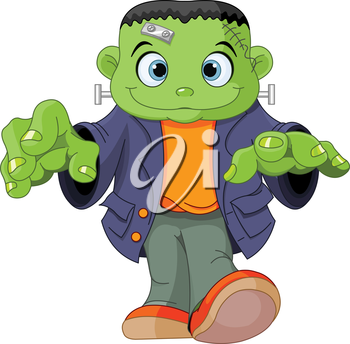 Royalty Free Clipart Image of a Frankenstein Monster