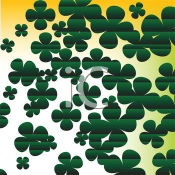 Royalty Free Clipart Image of a Shamrock Background