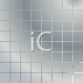 Royalty Free Clipart Image of a Metal Textured Silver Background