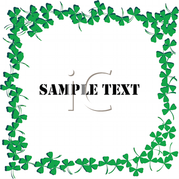 Royalty Free Clipart Image of a Clover Frame