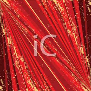 Royalty Free Clipart Image of a Grunge Red Background