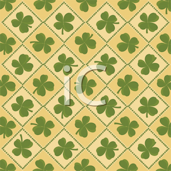 Royalty Free Clipart Image of a St. Patrick's Day Shamrock Background