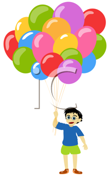 Litlle boy with baloons