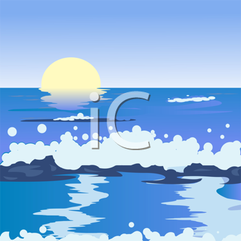 Ocean landscape illustration
