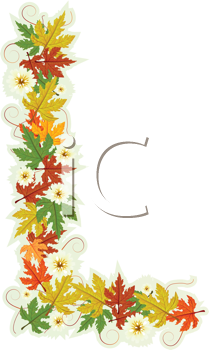 Pattern letter made from flowers and leaves