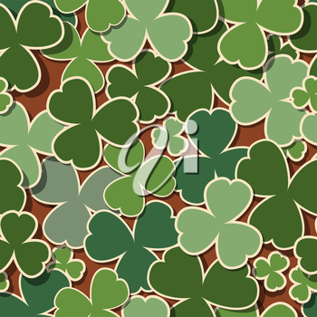 Green background for St. Patrick's Day, seamless pattern.