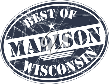 Best of Madison grunge rubber stamp against white background
