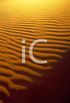 Royalty Free Photo of Light and Shadow Sand Patterns