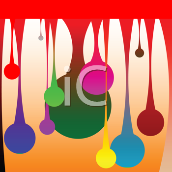 Royalty Free Clipart Image of Drops