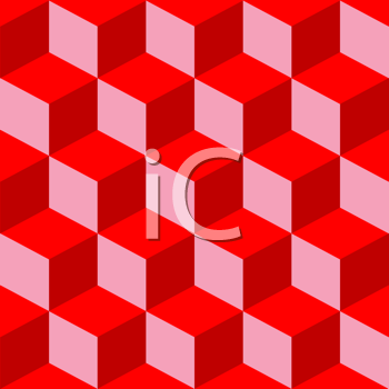 Royalty Free Clipart Image of a Red Pattern