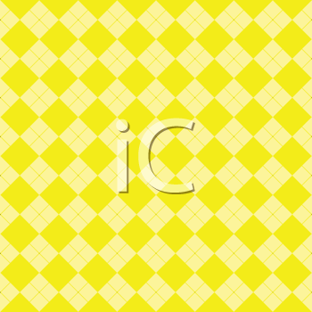 Royalty Free Clipart Image of a Yellow Checkered Background