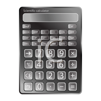 calculator against white background, abstract vector art illustration