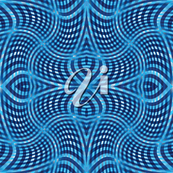 blue wavy pattern, abstract seamless texture; vector art illustration; image contains transparency
