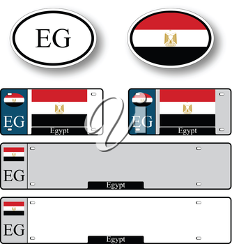 egypt auto set against white background, abstract vector art illustration, image contains transparency