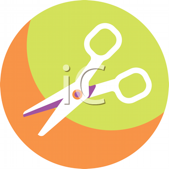 Royalty Free Clipart Image of Scissors
