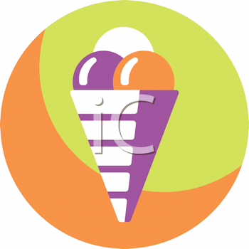 Royalty Free Clipart Image of a Snow Cone