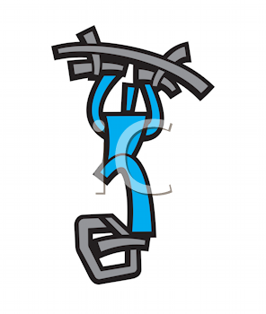 Royalty Free Clipart Image of a Guy Exercising