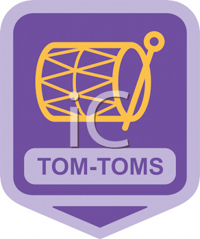 Royalty Free Clipart Image of Tom-Toms