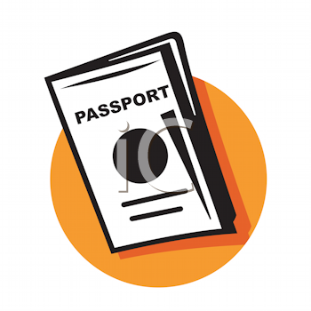 Royalty Free Clipart Image of a Passport