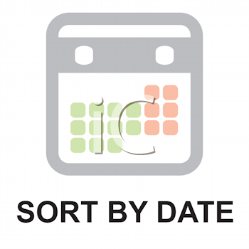 Royalty Free Clipart Image of a Sort by Date Button