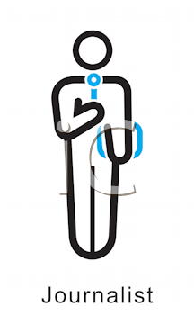 Royalty Free Clipart Image of a Journalist