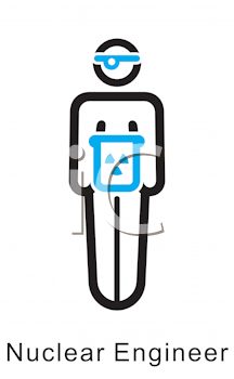 Royalty Free Clipart Image of a Nuclear Engineer