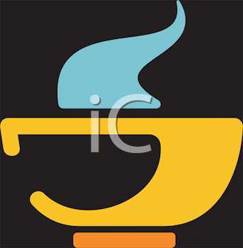 Royalty Free Clipart Image of a Bowl