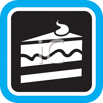 Royalty Free Clipart Image of a Slice of Cake