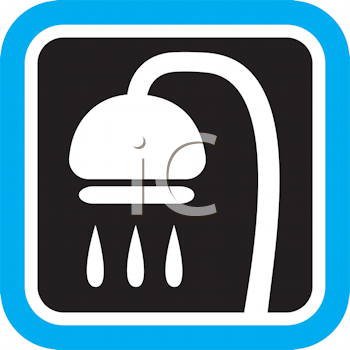 Royalty Free Clipart Image of a Shower