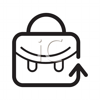 Royalty Free Clipart Image of a Schoolbag