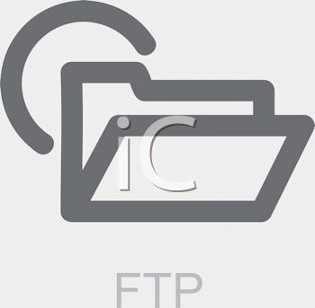 Royalty Free Clipart Image of an FTP Folder