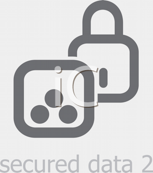 Royalty Free Clipart Image of a Secured Data Icon