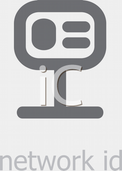 Royalty Free Clipart Image of a Network ID Icon