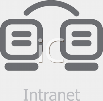 Royalty Free Clipart Image of an Intranet Icon