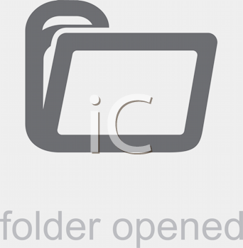 Royalty Free Clipart Image of an Open Folder