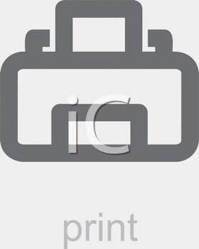 Royalty Free Clipart Image of a Print Icon