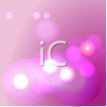 Royalty Free Clipart Image of a Pink Background With Lights