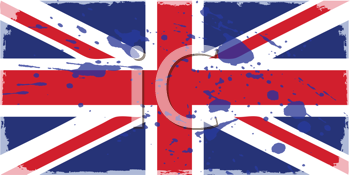 Royalty Free Clipart Image of a Union Jack Flag