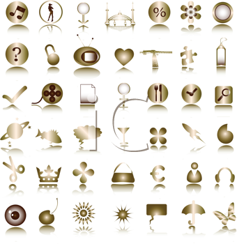Royalty Free Clipart Image of Metallic Images
