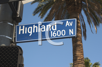 Royalty Free Photo of a Highland Av Sign