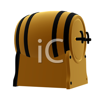 Royalty Free Clipart Image of a Beer Keg