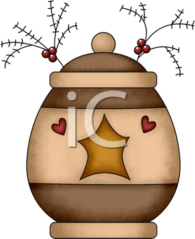 Royalty Free Clipart Image of a Christmas Jar