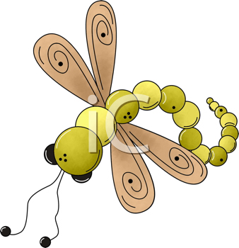 Royalty Free Clipart Image of a Dragonfly