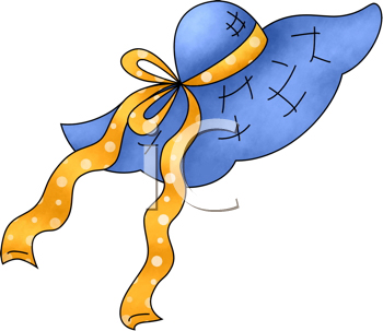 Royalty Free Clipart Image of a Sunhat